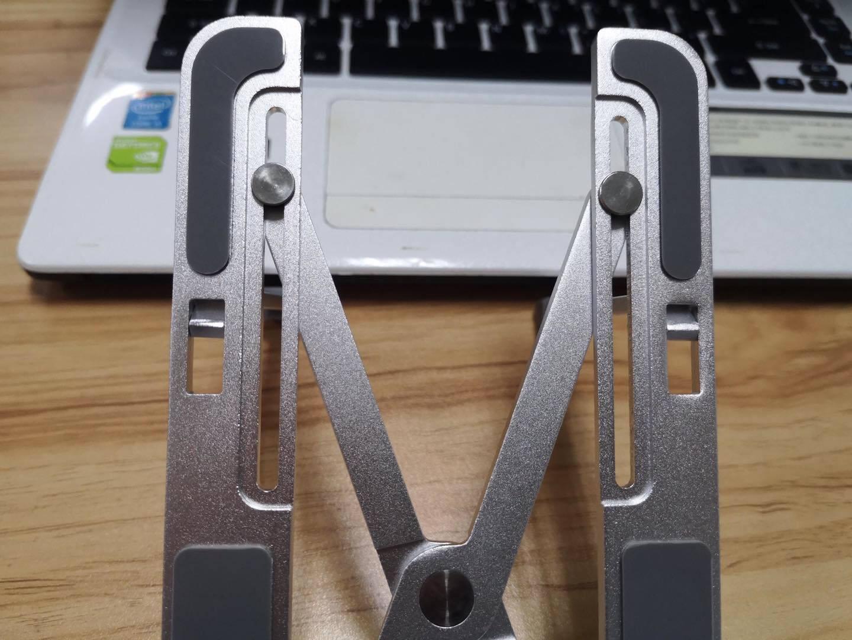 苹果笔记本支架电脑支架铝合金可折叠升降便携式增高托架散热器苹果macbook办公专用【七档便携款】全铝合金+高度自由+角度随心