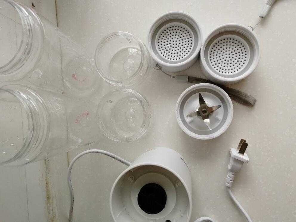 苏泊尔SUPOR榨汁机随行杯便携式料理机快速搅拌机迷你充电果汁机JC301白色