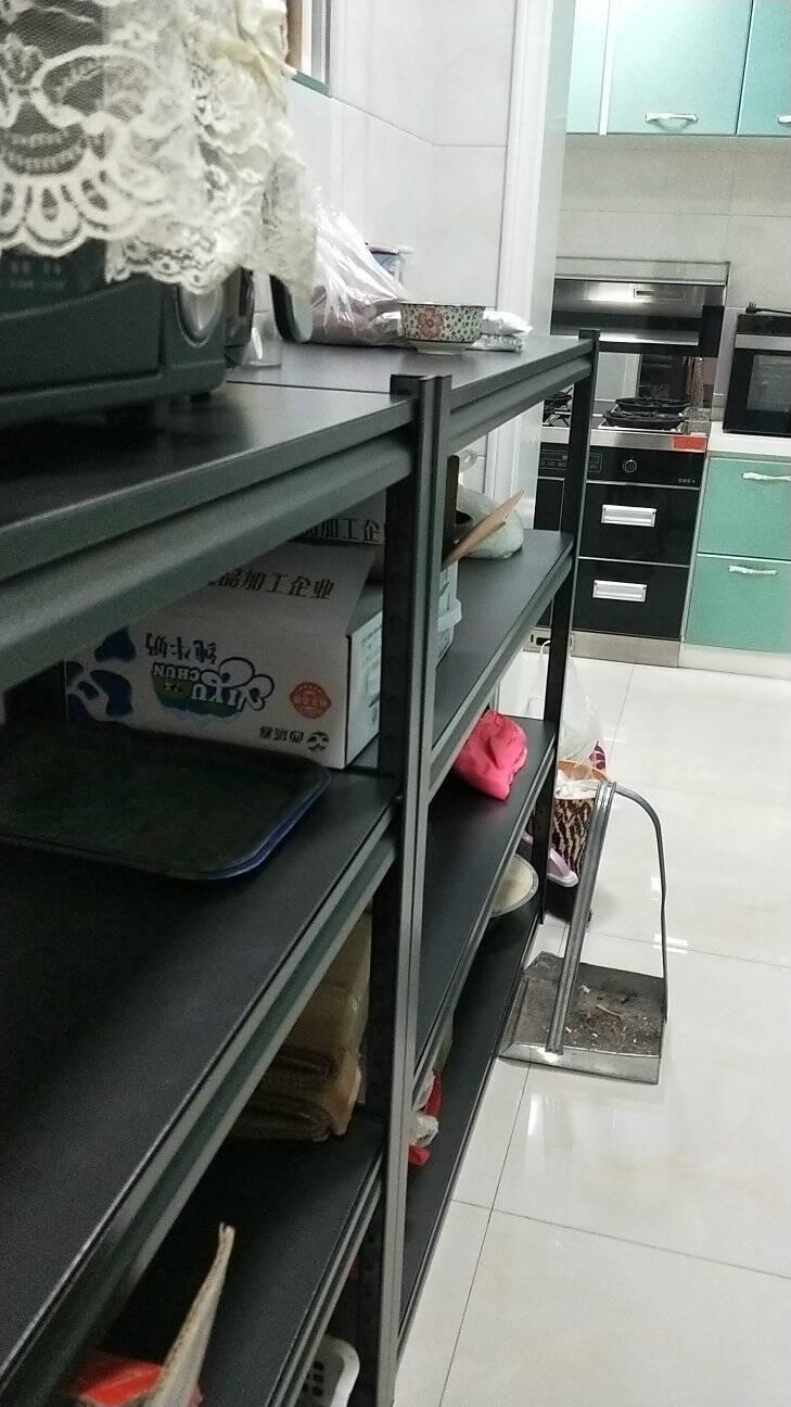 丰樊厨房置物架落地多层微波炉烤箱架子家用客厅阳台储物架收纳架仓储货架杂物架长60*宽45*高160cm加厚钢板五层