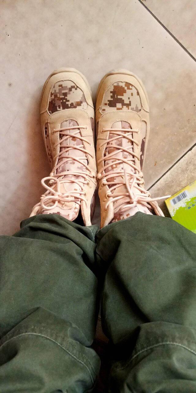 强人男靴JDKFL2175际华3515凯夫拉防穿刺户外作战靴男透气拼接缓震耐磨军迷靴迷彩色41码