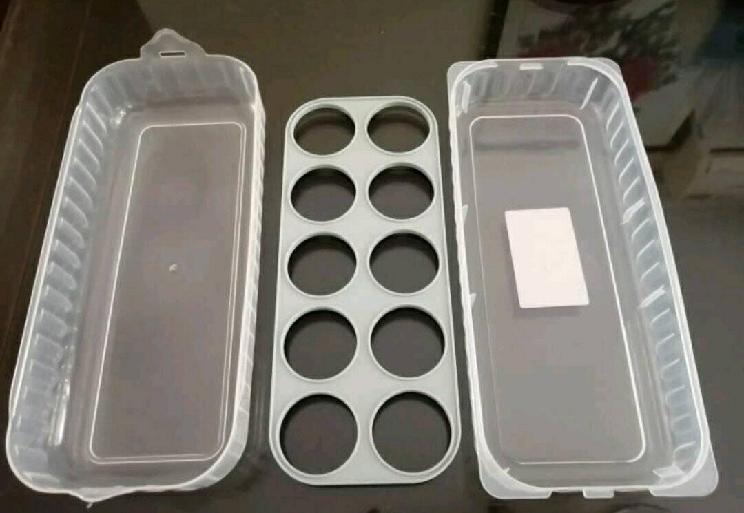 凡帝利塑料蛋盒冷藏冰箱收纳盒放鸡蛋储物盒分格鸡蛋格蛋托保鲜盒单个10粒款颜色随机