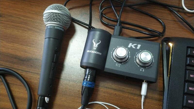 BuckhornK1声卡+K500麦克风USB外置声卡手机电脑网红主播录音直播K歌专用套装