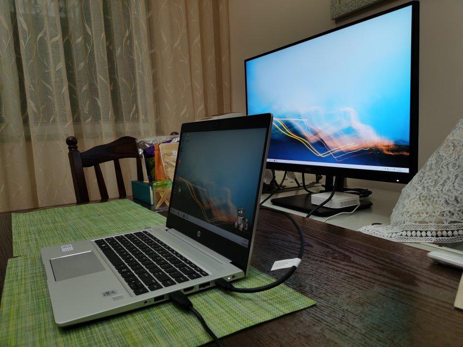 AOC电脑显示器27英寸4K高清,反向充电更高效办公用