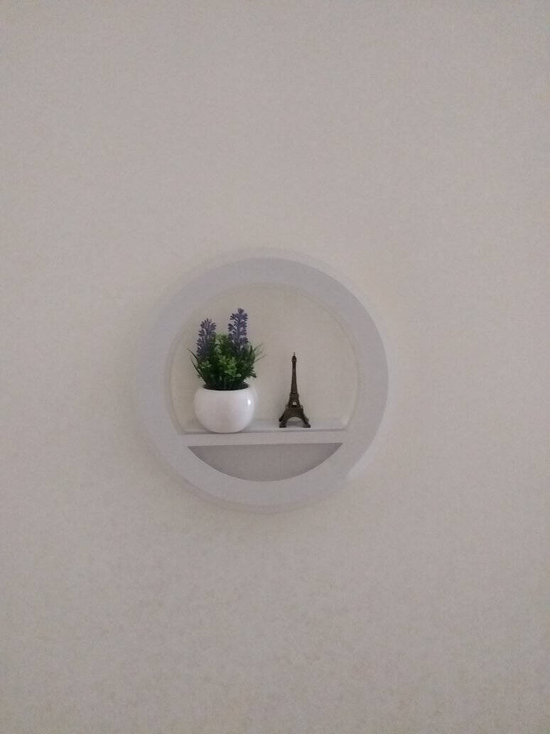 能點亮led北欧壁灯创意床头灯卧室客厅过道走廊灯楼梯创意圆形现代简约装饰墙灯盆栽铁塔盆栽铁塔