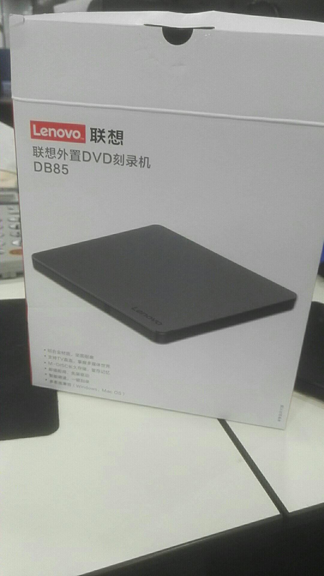 联想(Lenovo)8倍速铝合金Type-C/USB外置光驱外置DVD刻录机移动光驱Windows/MAC系统/DB85(银黑色)