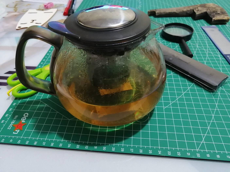 紫丁香700ml无铅耐热玻璃茶壶功夫茶具304不锈钢过滤内胆泡茶壶