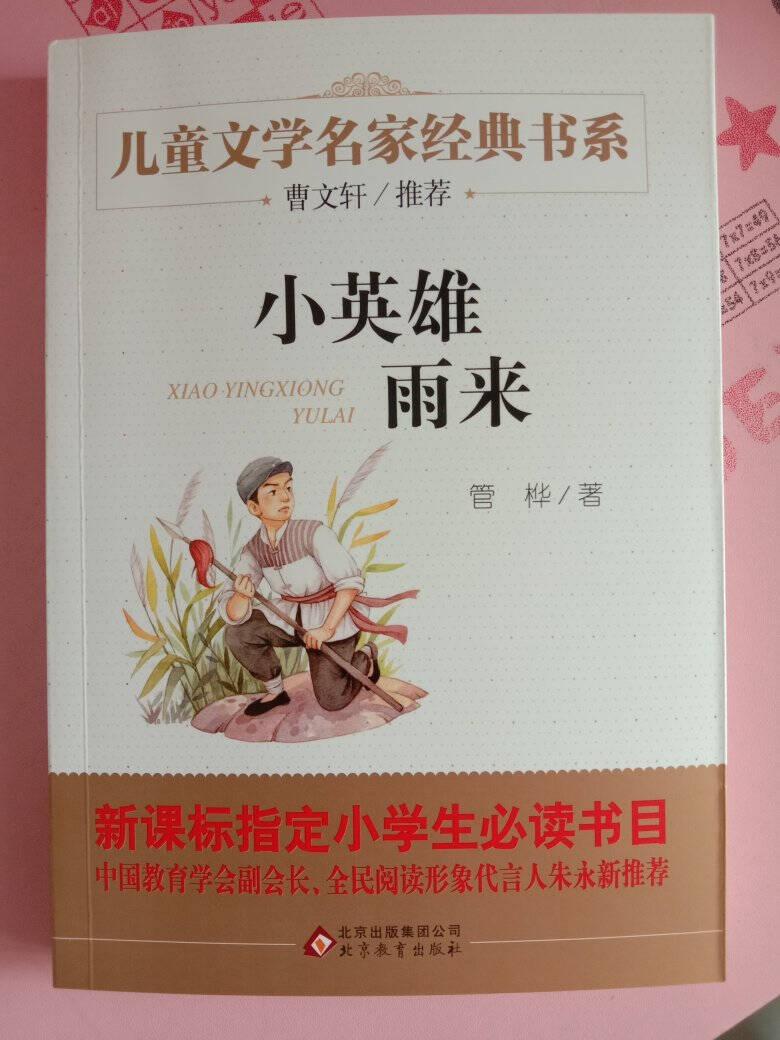 小英雄雨来曹文轩推荐儿童文学经典书系3-6年级课外阅读推荐新老版随机发货