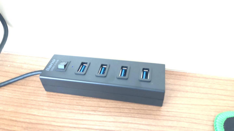 绿巨能(llano)USB3.0分线器扩展坞高速4口HUB集线器笔记本台式电脑一拖四多接口拓展转换器带开关