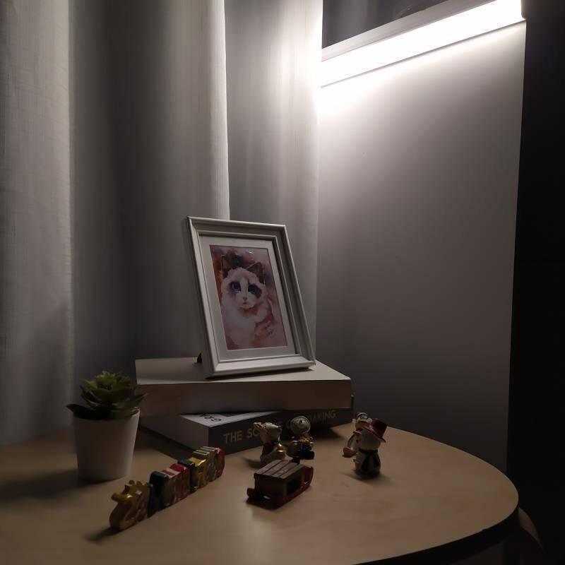 大头人datouren小夜灯充电无线感应灯带led人体感应灯楼道梯走廊灯过道玄关灯橱柜灯床头卧室壁灯夜光小灯