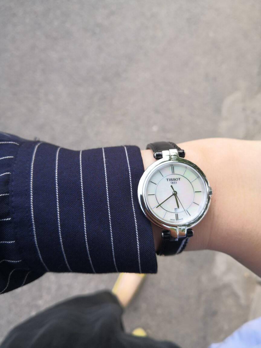 天梭(TISSOT)瑞士手表弗拉明戈系列皮带石英女士手表T094.210.26.111.01