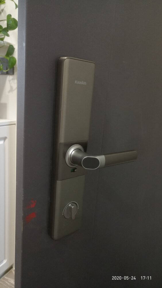 凯迪仕(KAADAS)智能锁指纹锁家用防盗门锁密码锁电子锁智能门锁S101陨石灰(3年质保+终身维护)