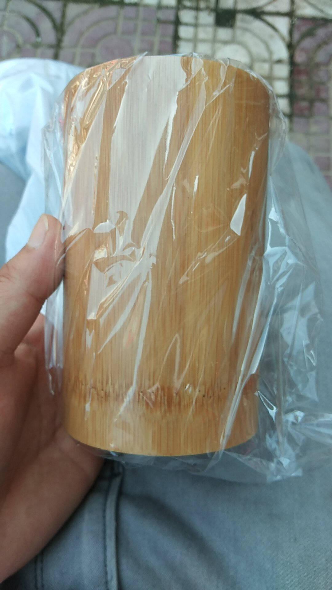 竹筷子筒定做LOGO筷篓筷笼商用串串香竹签筒定制复古餐厅饭店筷桶本色常规2号-高16cm