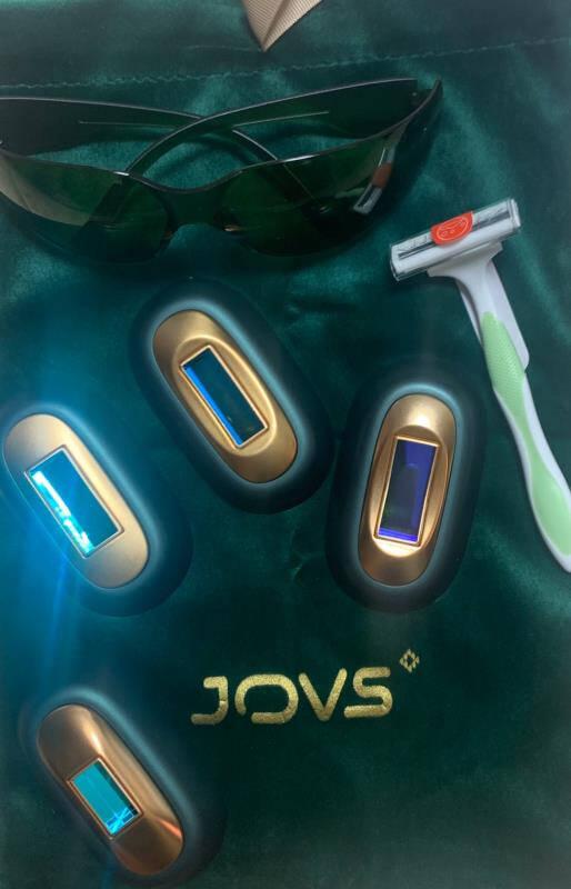 JOVS脱毛仪器冰点激光女士家用腿毛唇部胡子刮毛神器专用脱毛刀剃腋毛机腋下部【限时】升级版PRO(50万发)