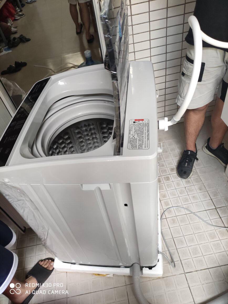 TCL5.5公斤波轮洗衣机小型全自动节能家用学生宿舍迷你脱水甩干XQB55-36SP亮灰色