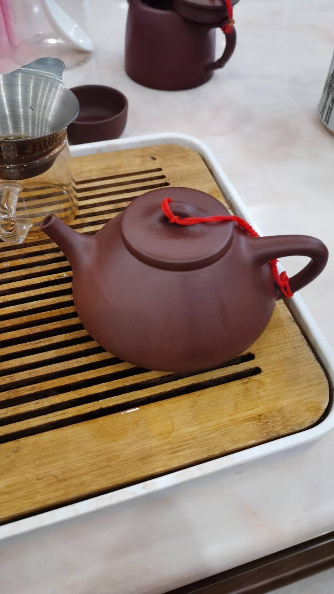 吉羊宜兴紫砂壶茶壶纯手工茶壶功夫茶具原矿底槽清子冶石瓢壶200ml
