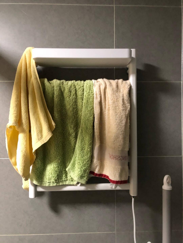京东京造电热毛巾架卫生间浴室防潮置物架烘干器智能电加热毛巾烘干架