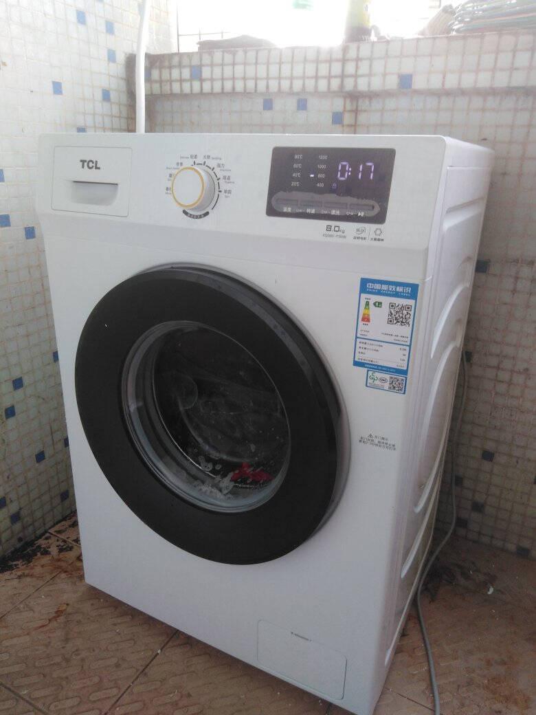 TCL8公斤变频节能滚筒洗衣机全自动护色洗涤(芭蕾白)XQG80-P300B芭蕾白