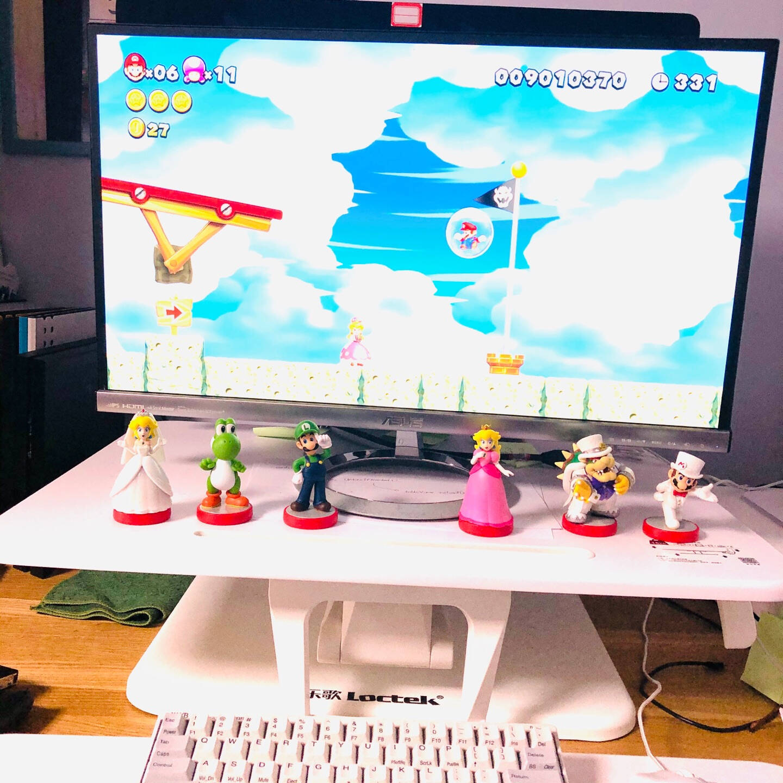 任天堂NintendoSwitch超级马力欧路易吉标准款国行amiibo游戏互动模型NS周边配件