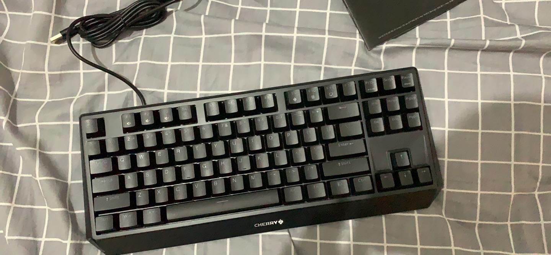樱桃 87键机械键盘,茶轴送男友办公礼物