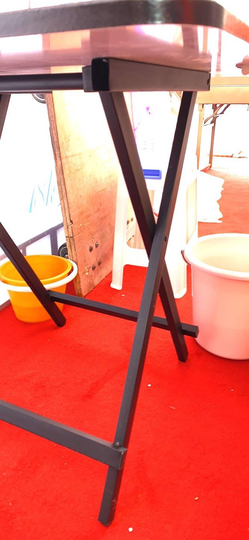 工来工往折叠餐桌椅组合饭桌折叠方桌小餐桌椅子小户型吃饭桌子简易餐桌休闲桌子小户型简约餐桌精致黑(仅桌子)