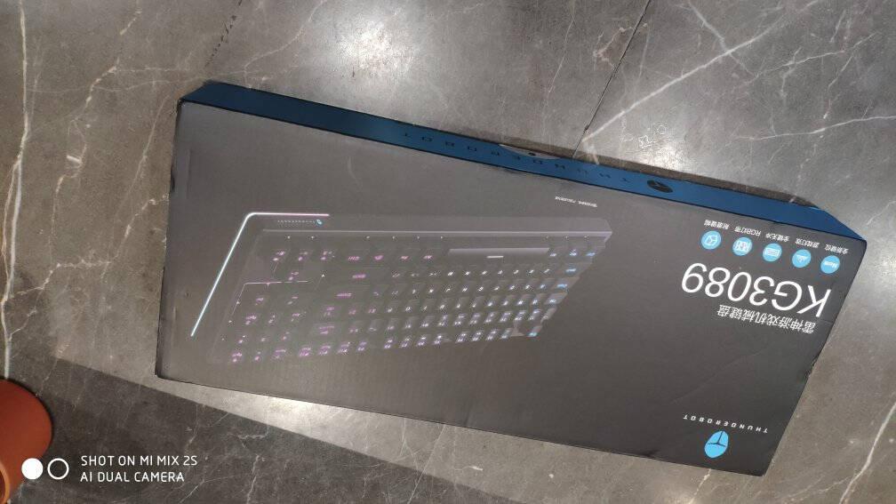 雷神(ThundeRobot)有线游戏机械键盘红轴KG3089R幻彩版89键新键位带数字区炫酷混光L型RGB灯带