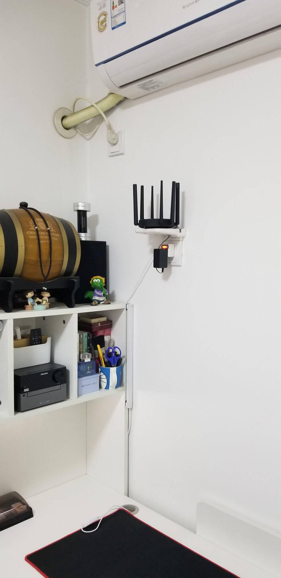 丽博尔免打孔小爱同学智能音响支架方糖IN小度托架监控摄像头支架底座室内排插壁挂固定插座手机架壁挂支架