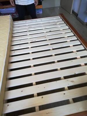 贤德家实木床1.8米新中式双人床简约现代1.5m单人床主卧高箱储物床婚床卧室家具单床(颜色备注)1500mm*2000mm框架床