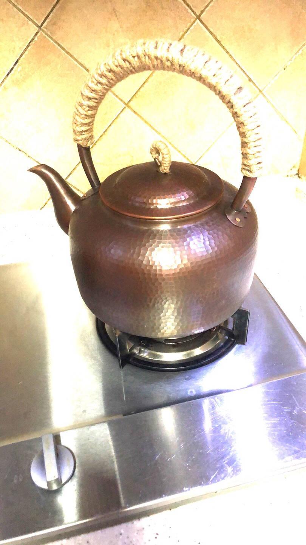 典湛手工紫铜加厚家用烧水壶壶燃气碳炉4.5升大容量锤点加厚耐用煮水壶大茶壶