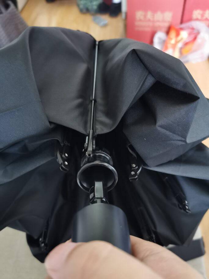 小米生态90分雨伞晴雨两用伞黑色全自动反向折叠伞防紫外线防晒太阳伞LED照明伞大伞面男士女士双人雨伞90分反向照明伞黑色标配