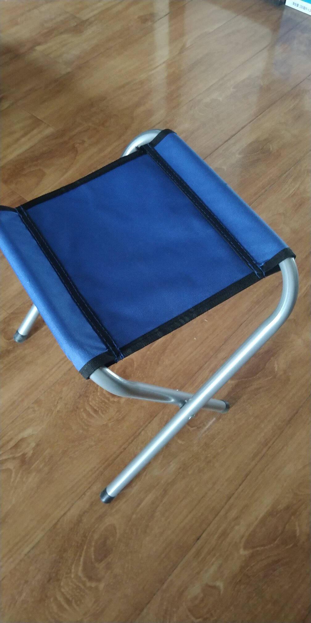 鲸伦(KINGRUNNING)XQ-1642蓝色马扎折叠椅折叠凳户外便携休闲椅钓鱼登小凳子板凳