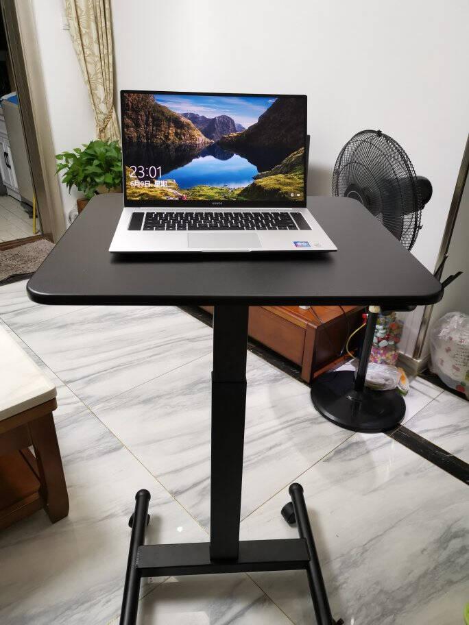 乐歌电脑办公书桌站立办公升降桌家用床上沙发学习桌移动办公演讲台坐站交替写字桌T3A雅白