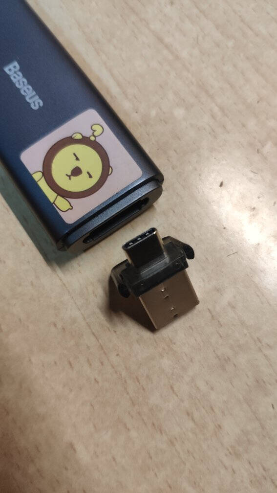 倍思PPT激光笔翻页笔教师专用上课办公会议二合一课件投影笔无线电子笔翻页器Type-C+USB