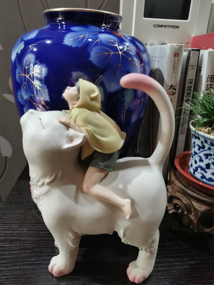可米生活(KEMELIFE)白夜童话系列经典款猫将军mini版家居装饰办公室桌面摆件艺术品摆设客厅装饰品雕塑礼物