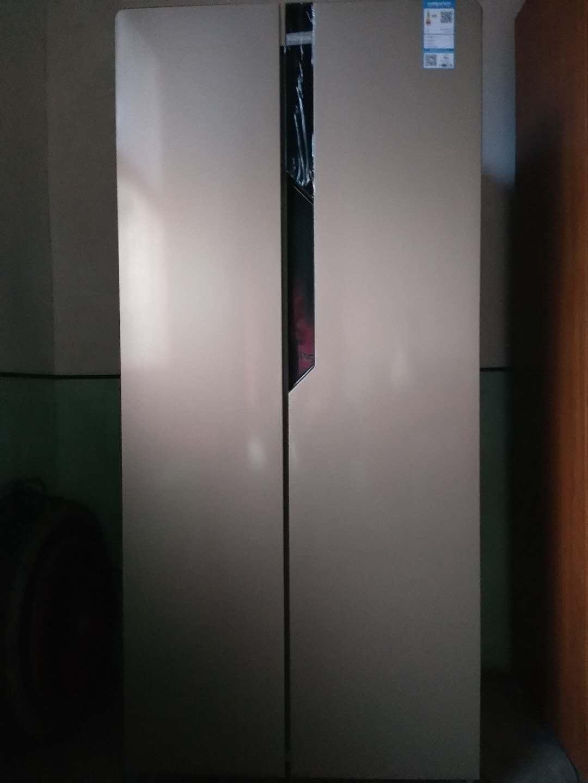 康佳400升家用对开门冰箱双开门冷藏冷冻电脑控温纤薄机身冷藏自动除霜净味节能静音(金色)400升对开门金色