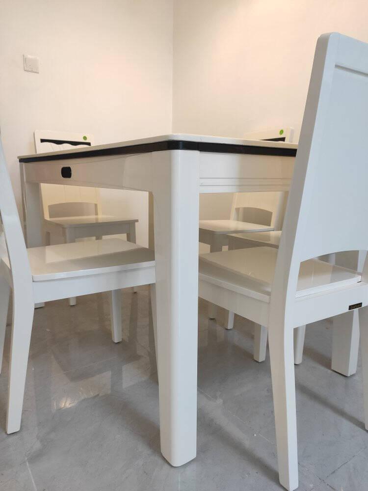 全友餐桌椅组合现代时尚餐厅家具组合全友家私餐桌椅组合餐厅吃饭桌子一桌四椅/六椅组合120358一桌四椅