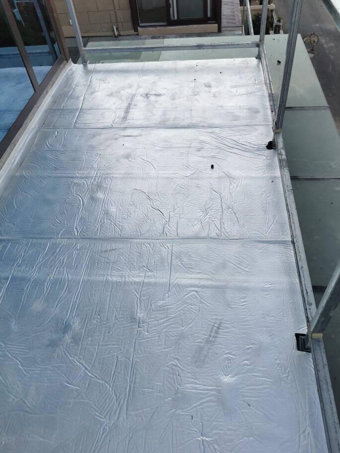 亿派隔热棉板保温棉耐高温隔热膜窗户贴屋顶防晒防水材料卷材自粘隔音棉板带背胶压花铝板50MM【10平米/卷】