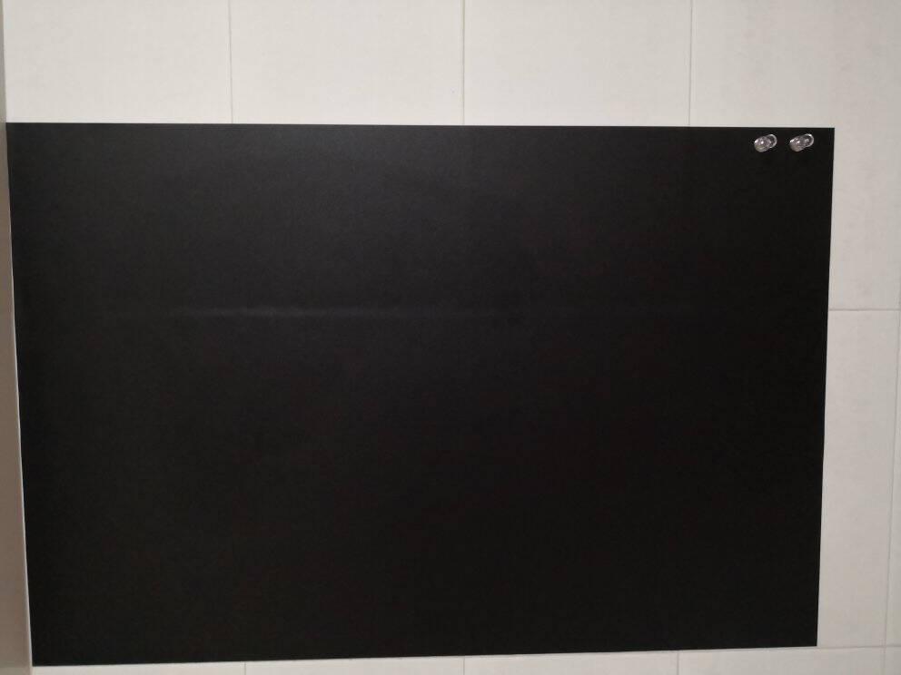 得力(deli)100*150cm家用软磁铁自粘白板贴可擦写墙贴/写字板/画板涂鸦自粘墙纸儿童小黑板贴带背胶50008