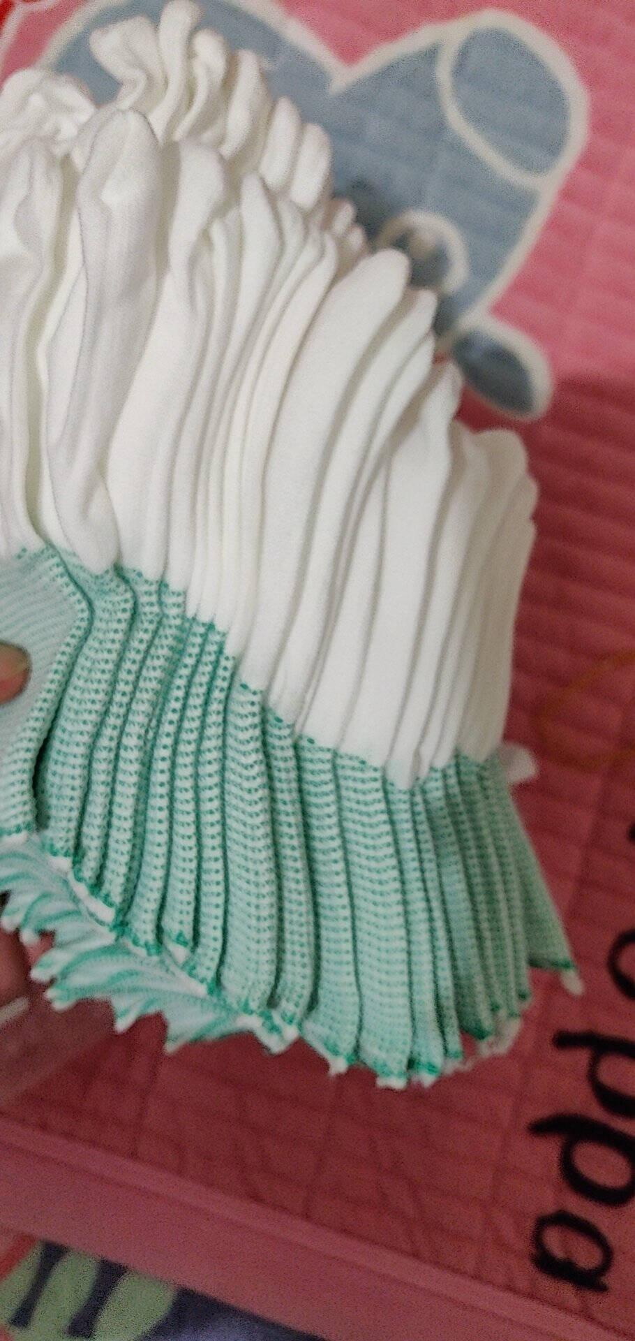 环川工作劳保手套耐磨透气盘珠文玩线手套涤纶舒适手套防滑男女工地工作干活手套手套小号S(白色边)10双