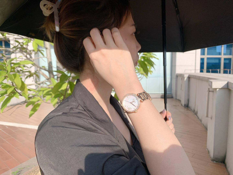 罗西尼(ROSSINI)手表女典美系列蒲公英表盘时尚女机械表气质优雅机械女表女士手表送礼金色蒲公英机械女表5200010G01B