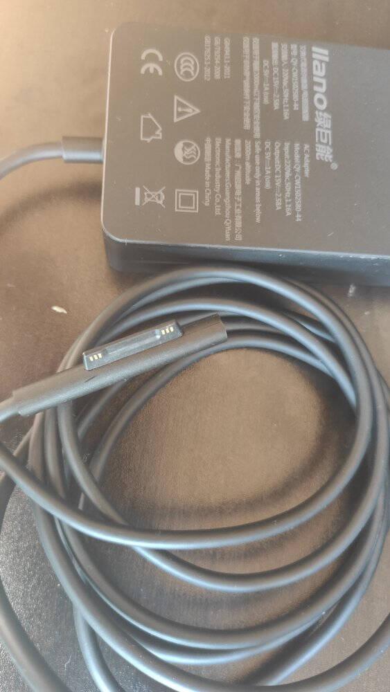 绿巨能微软笔记本平板电脑充电器SurfacePro43567Go原装电源适配器线充套装44W15V2.58A微软Pro567/aptop