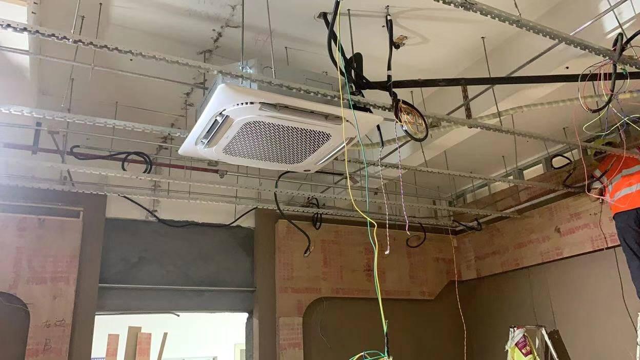 美的(Midea)中央空调一拖一嵌入式5匹天花机天井机商用店铺吸顶机冷暖新能效380VRFD-120QW/SDN8Y-D(D3)