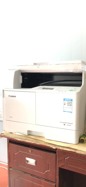 佳能iR2206N/AD复印机A3黑白激光大型打印机办公数码复合机一体机(打印/复印/扫描/无线)2206AD标配:含双面器+输稿器(无线款)全国联保1年上门安装