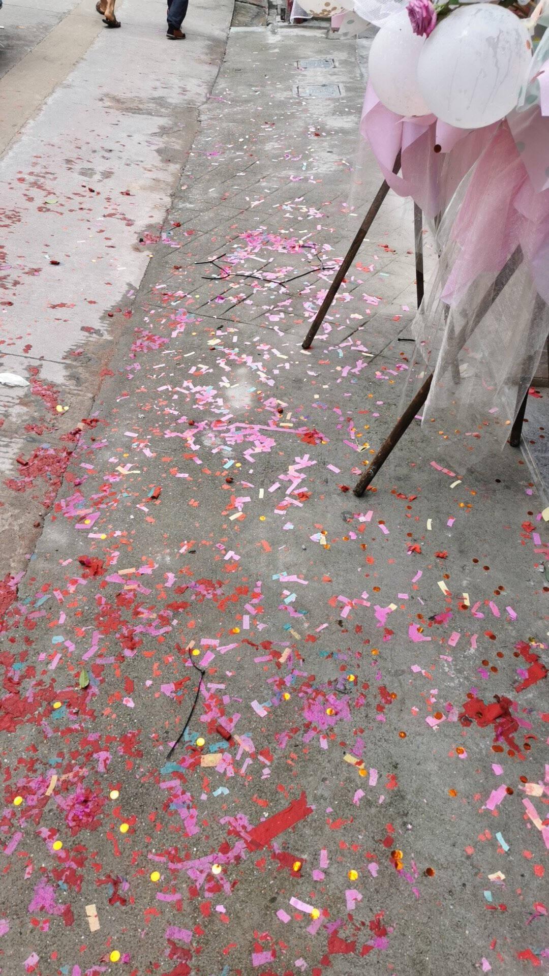 新新精艺礼花礼炮筒开业庆典开工大吉喜庆手持礼宾花彩带条喷花60cm4根装
