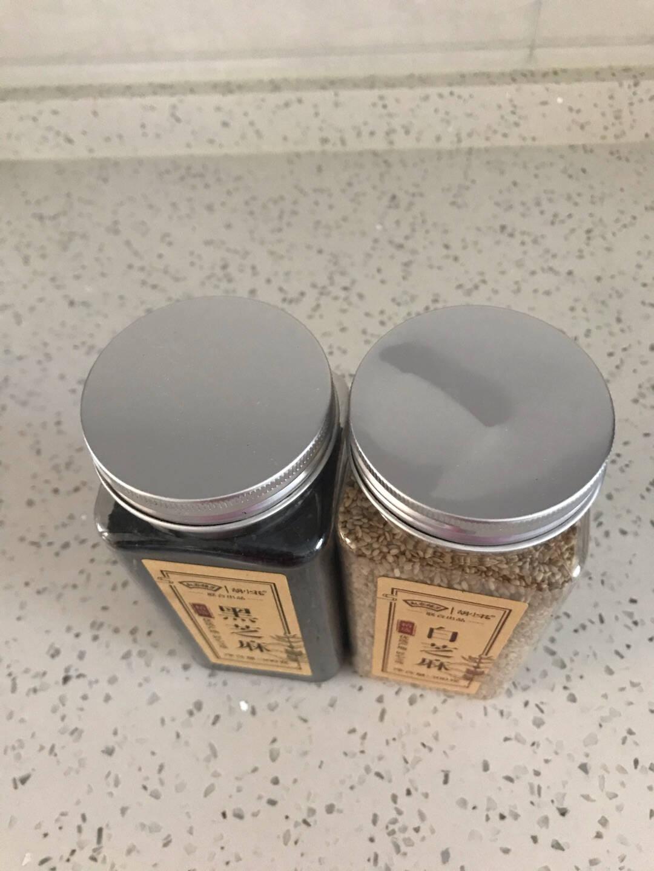胡小花共2罐装熟黑芝麻白芝麻泡茶熟香醇饱满五谷杂粮可搭配烘焙代餐便携装