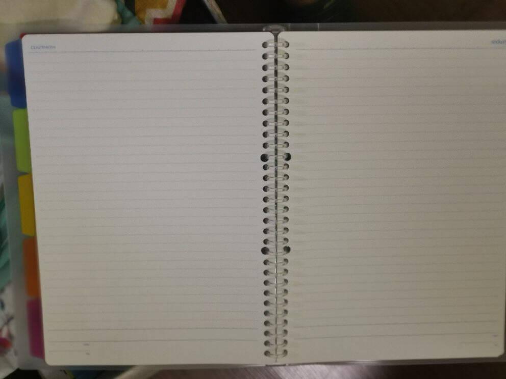 国誉(KOKUYO)淡彩曲奇20孔活页本笔记本记事本子活页夹日记本5色索引分隔页A5/40页蓝色WSG-RUCP12B