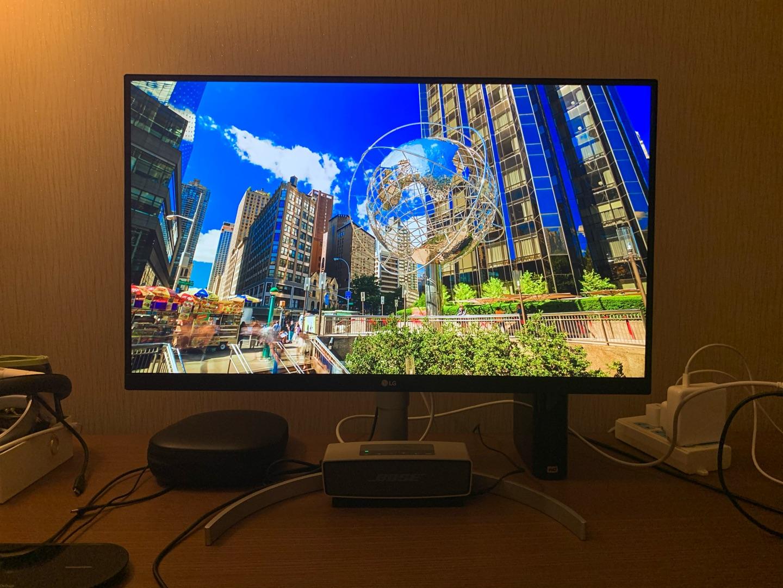 LG反向充电4K显示器,自带影音满足工作用