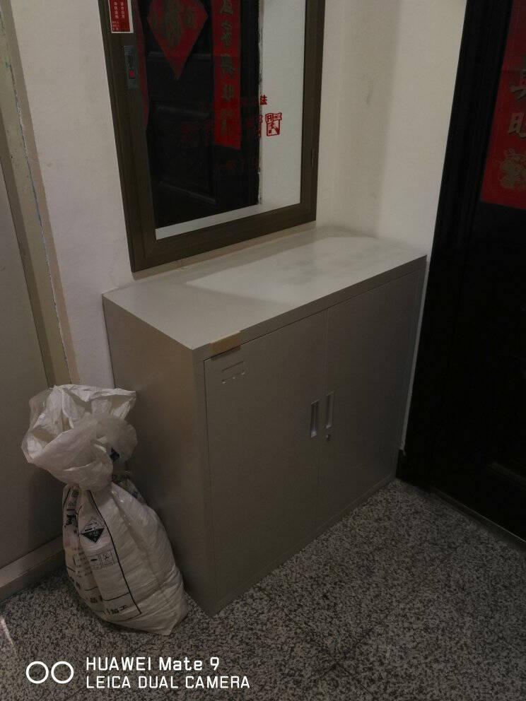 豫倍易文件柜矮柜铁皮柜抽屉式带锁工具储物柜钢制办公室铁开门(普通)