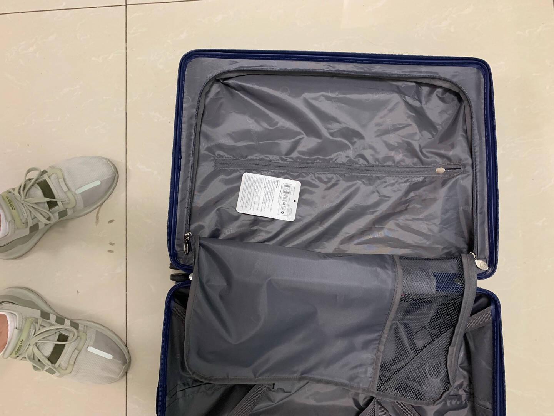 外交官(Diplomat)行李箱一键开启前开盖登机箱商旅出差拉杆箱万向轮旅行箱TSA密码锁TC-9152蓝色20英寸