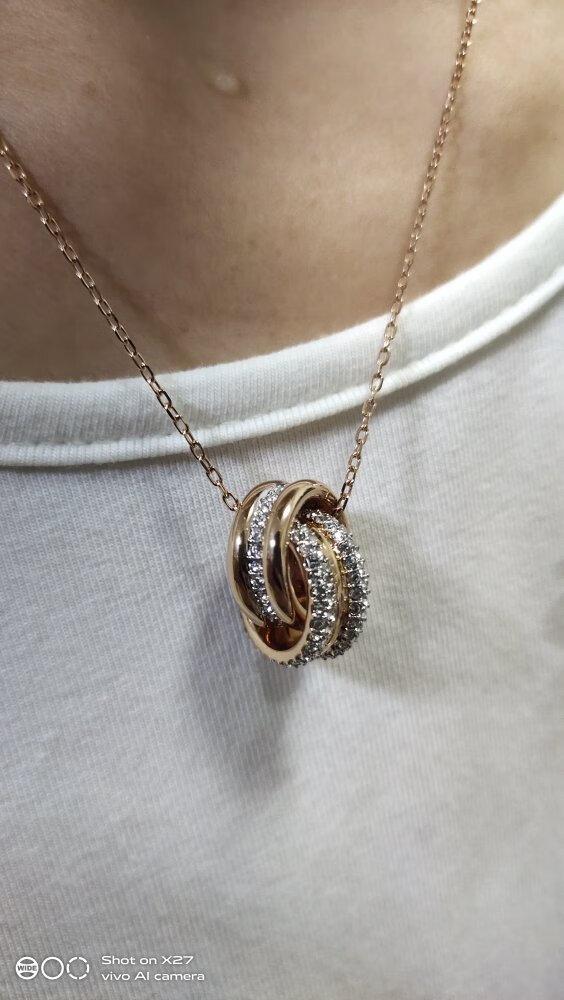 施华洛世奇浪漫双环项链,送女朋友1000元左右生日礼物