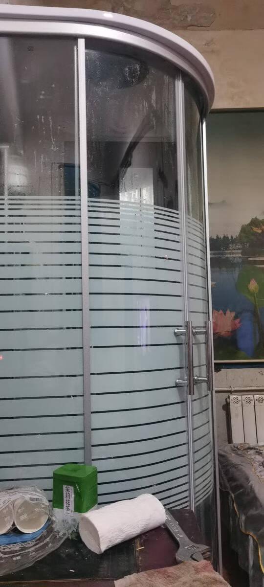 【保价618】淋浴房洗澡家用一体式封闭式沐浴房整体浴室整体淋浴房滑轮玻璃扇形隔断欧洛宝B款90x90带美容镜、安全中柱不含蒸汽